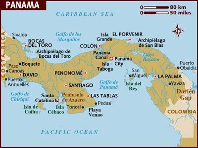 Panama Topographic Map 58496 Usbdata