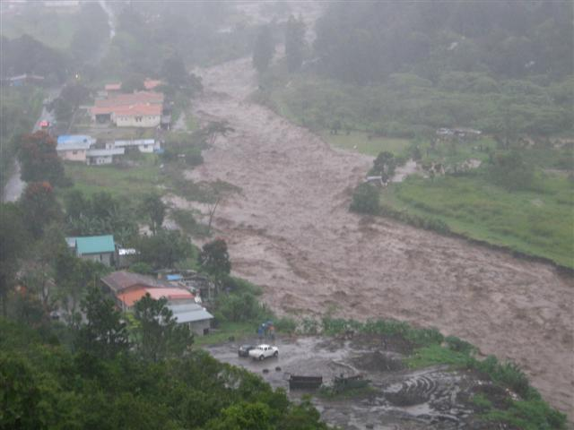 Flooding in South Boquete